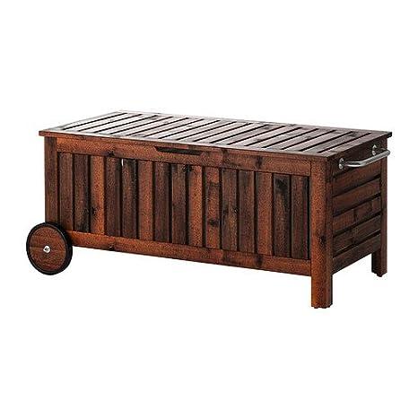 Miraculous Amazon Com Ikea Applaro Storage Bench With Wheels Outdoor Unemploymentrelief Wooden Chair Designs For Living Room Unemploymentrelieforg