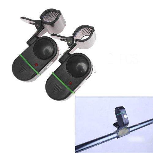 Ecoolbuy 2PCS Automatic Electronic Fishing Rod Alarm Light Bite Fish Bell Waterproof