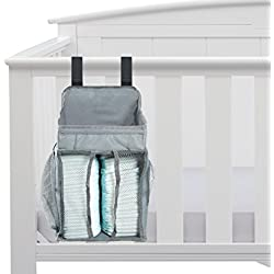 Baby Nursery Organizer - Diaper Organizer - Large Pockets - Space For Diapers & Wipes, Creams & Lotions