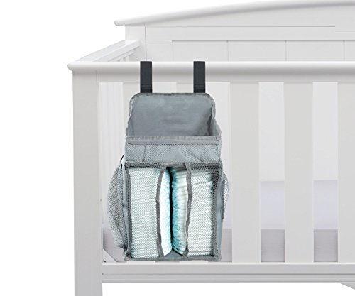 Baby Nursery Organizer - Diaper Organizer | Diaper Caddy | Large Pockets - Space For Diapers & Wipes, Creams & Lotions Special Support for Crib (Antique Wicker Baby Buggy)