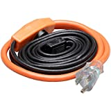 PHOENIX CABLES USA Pro Cold Weather Valve and Water Pipe Heating Cable/Multi-use for rigid plastic or metal pipes, preventing RV hose freezing or down a gutter downspout (6 Feet)