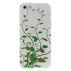 QHY Green Leaves Pattern Hard Case for iPhone 5/5S