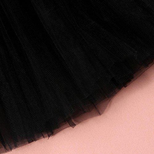 plisses Femme Adulte en de pour Jupe Gaze Tutu 1 Noir Danse Courte Robe GreatestPAK EqwZvxtT4