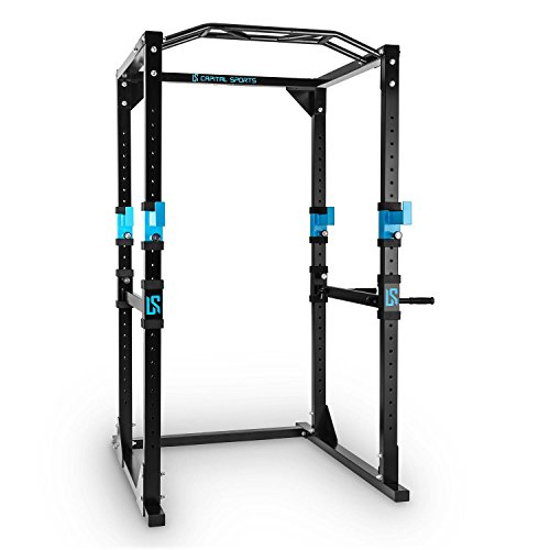 Capital Sports Tremendour | Stabiles Power Rack | Homegym Kraftstation | Monkey Bar for Gym | Power Cage Rack Käfig | Konstruktion aus Stahl-Kantrohr | inkl. Multigripp-Klimmzugstange | Farbe: blau ohne Latzug