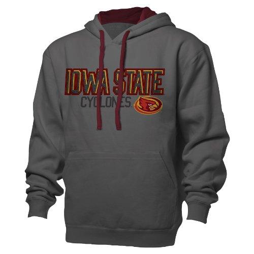 - NCAA Iowa State Cyclones Benchmark Colorblock Pullover Hood, X-Large, Graphite/Garnet