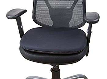 CONFORMAX Gel Office Seat Cushion (L18, STANDARD-BLACK) + FREE!!! ULTRAGEL ANYWHERE, ANYTIME Personal Comfort Gel (3.5X4.5)