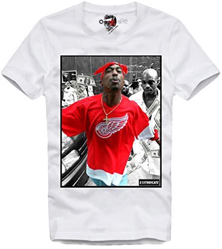 (E1SYNDICATE T Shirt 2PAC Kendrick Lamar WU Tang SUICIDEBOYS POUYA Jay Z White)
