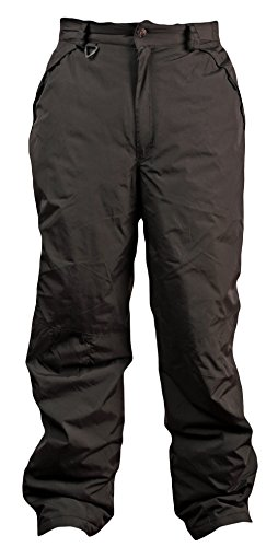 Woodland Supply Co. Men's 32-Inch Inseam Insulated Snow Ski Pant,X-Large,Black