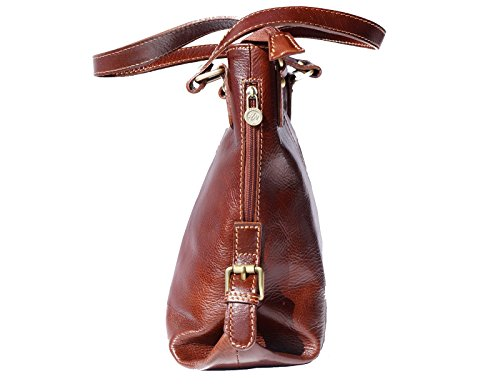 Handle Shopping Double Brown 6547 With Bag qZ0Ywft8