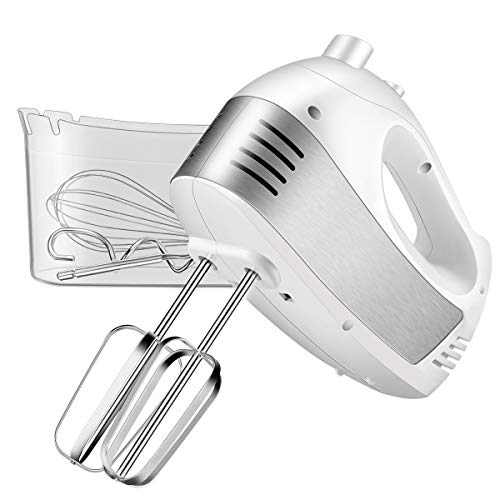 Hand Mixer Electric, Cusinaid 5-Speed Hand Mixer with Turbo Handheld Kitchen...