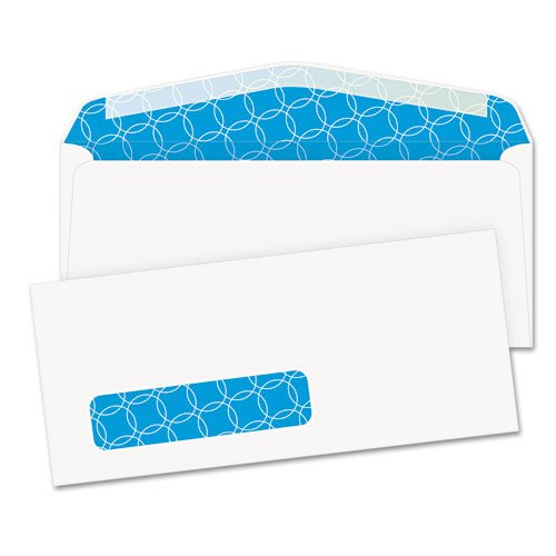 Antimicrobial Window Envelope (Tinted Window Envelope, Contemporary, #10, White, 500/Box, Sold as 1 Box)