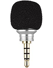 Andoer EY-610A Cellphone Smartphone Portable Mini Omni-Directional Mic Microphone for Recorder for iPad iPhone5 6s 6 Plus for Samsung Huawei (Silver)