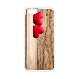 Heart on Wood iPhone 6 Plus 5.5 Inch Cell Phone Case White QD9343449
