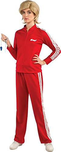 Sue Sylvester Costume - UHC Women's Sue Sylvester Glee Track Suit Halloween Themed Red Fancy Dress, Standard (8-12)