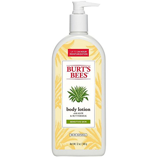 Burt's Bees Soothingly Sensitive Aloe & Buttermilk Body Lotion, 12 oz (Pack of 2)