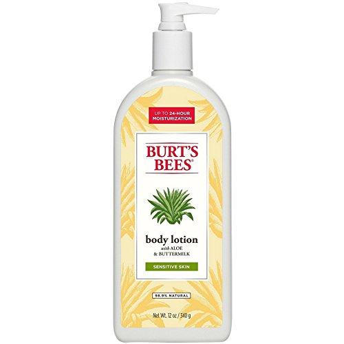 Aloe & Buttermilk Body Lotion w/Pump Burt's Bees 12 oz (Aloe Body Milk)