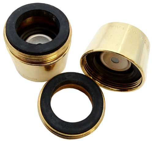 Polished Brass Flo 2.2 Gpm Neoperl Designer Faucet Aerator | Aerated Stream Full Forceful Flow Kitchen
