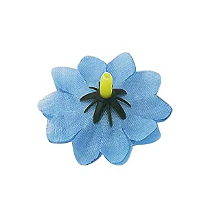 Artificial Daisy Flower Heads 100pcs Fake Gerbera Petals Sky Blue DIY Garland Craft Birthday Indoor Outdoor Party Easter Bonnet 4