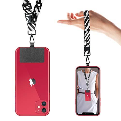 ネックストラップ ハンドストラップ 着脱簡単 スマホストラップ 首掛け 落下防止 携帯ストラップ 全機種適用 2本入り