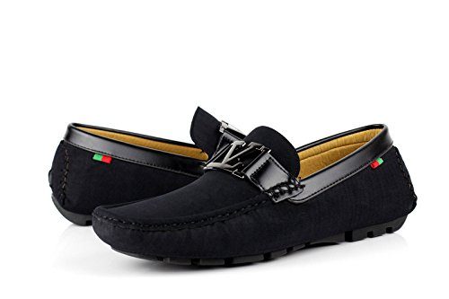 Moccassini Casual Conduttore Slip Ganasce Fashion Designer JAS Uomo Nero Italiana Mocassini On qx705vw6