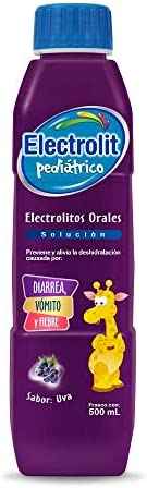 Electrolit Pediátrico Plast, Sabor Uva, 500 ml