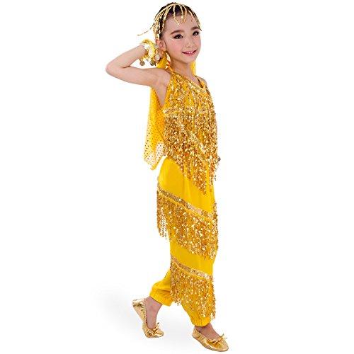 Symbollife Mädchen Bauchtanz Kostuem Kinder Tanzkleid Tanzkleidung