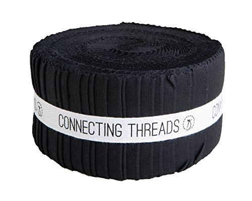 Connecting Threads Color Wheel Precut Quilting Fabric Bundle (Black - 2.5