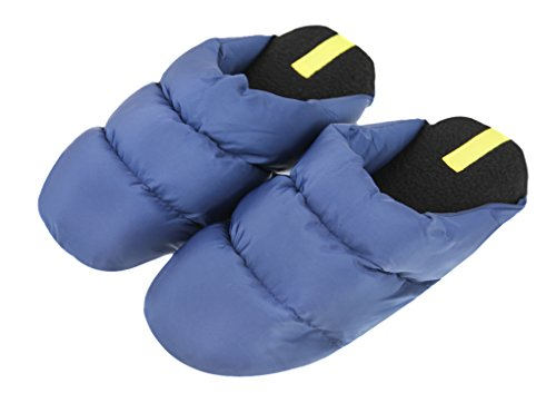 Quilted Slippers Blue Womens Down Fakeface Navy Mens Ankle Boots Winter Indoor wIqxaXS