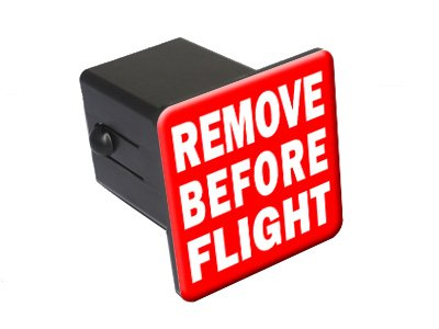 Remove Before Flight Tow Trailer Hitch Cover Plug Insert 2""
