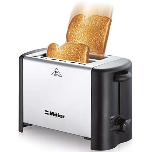 Mueller Premium Compact Ultra Efficient 18/10 Stainless Steel 2 Slice Toaster with Long Lasting Heat Element – Perfect Toast Every Time