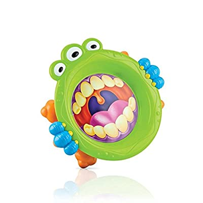 Nuby 22020 iMonster Toddler Plate, One Size, Blue: Kitchen & Dining