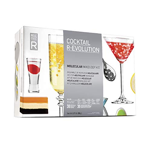 - MOLECULE-R  Molecular Mixology Introductory Kit by | Modernist Cocktail Drinks | Learn Spherification Gellification Emulsification Suspension | With Additives, Tools, Recipe Booklet