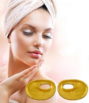 Pro-Nu 24K Gold Collagen Anti-Aging Eyes Mask Reduce Dark Circles and Puffiness Eye Treatment Pads Eye Patches For Men and - Mask Treatment Aging Lifting Anti