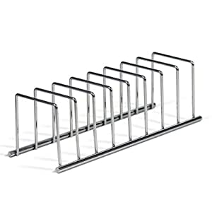 Spectrum Diversified Euro Lid Organizer, Plate Rack, Chrome
