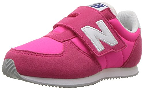 New Balance Boys' KV220 Hook and Loop Sneaker, Navy/White, 8.5 Wide US Infant