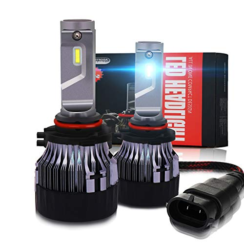 Newest 9005 HB3 LED Headlight Bulbs Conversion Kit - CREE Chips 10000LM Extreme Super Bright IP67 LED Low/High Beam White Light All-in -one Headlamp Bulb Replacement for Cars,Trucks,SUVs (2 ()