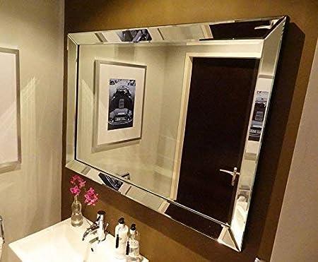 Il Mosaico E Gli Specchi 1a.Colmore Di Alta Qualita Specchio Muro 90x70cm Con Cornice