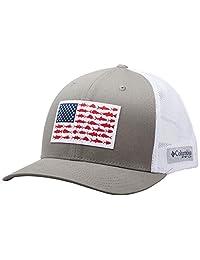 Columbia Men's PFG Fish Flag Snapback Ball Cap, Breathable, Adjustable