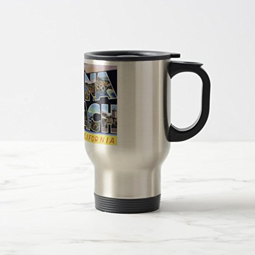 Zazzle Greetings From Laguna Beach Mug, Stainless Steel Travel/Commuter Mug 15 - Stainless Steel Laguna Mug