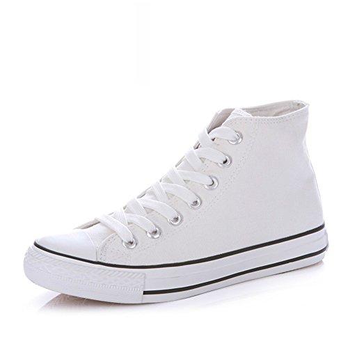Zapatillas Primavera,Blanco Zapatos Flat-bottom,Estudiante Alta Clásica Pareja Zapatos,Zapatos Deportivos C