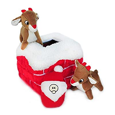 ZippyPaws-Holiday-Burrow-Interactive-Squeaky-Hide-and-Seek-Plush-Dog-Toy