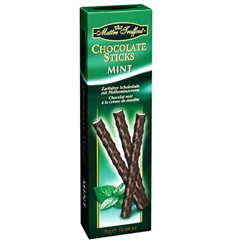 Chocolate mint sticks in 75g pack from Maître Truffout