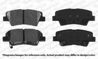 2015 15 Fit Hyundai Veloster w//Turbo Max Brakes Front /& Rear Carbon Ceramic Performance Disc Brake Pads KT102953 Fits