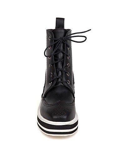 Mujer us10 Vestido Xzz 5 Eu36 Punta Plataforma Botas Semicuero Zapatos Uk8 Cn36 Cuadrada Cn43 Black Negro Black 5 Uk4 Anfibias De Casual Eu42 us6 wnwcq8OrCE