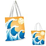 Best Tide Pouches - Japanese Shopping Bag Storage Pouch Huge Sea Waves Review