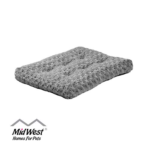 Plush Pet Bed | Ombré Swirl Dog Bed & Cat Bed | Gray 17L x 11W x 1.5H - Inches for Toy Dog Breeds