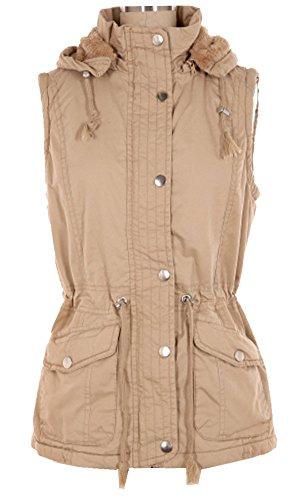 Womens Clothing : Vests Khaki - 6