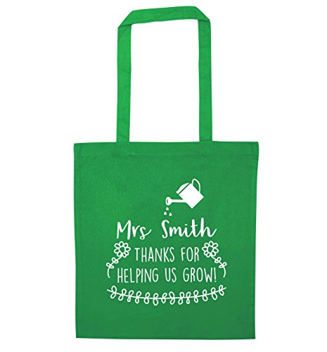 Personalizada Verde Smith Mano Creativa Por A Flox Bolso Gracias Señora Crecer De Ayudarnos wqXHYp