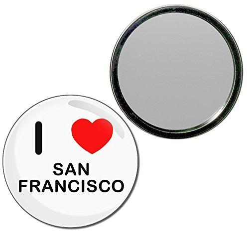I Love San Francisco - 77mm Round Compact Mirror