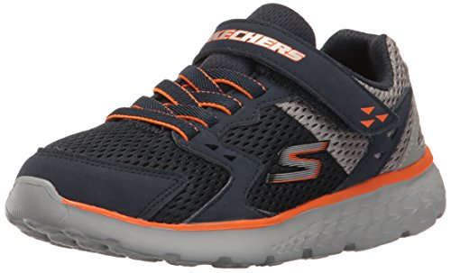 Skechers Kids Boys' Go Run 400-Proxo Sneaker,Navy/Grey,13 Medium US Little ()